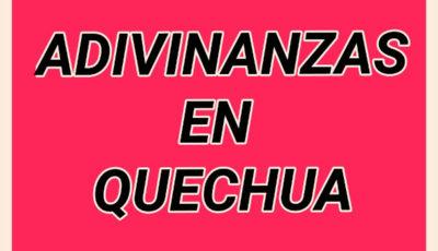 Cartel Adivinanzas en Quechua