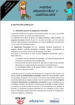 Medidas organizativas y curriculares 1