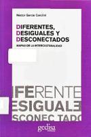 Diferentes, desiguales y desconectados. Mapas de la interculturalidad