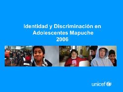 Identidad y Discriminación en Adolescentes Mapuche