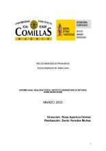 Red de menores extranjeros escolarizados en Andalucía. Informe