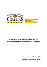 El entorno familiar de los menores de origen extranjero escolarizados en Madrid
