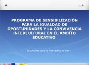 Programa de sensibilización para la igualdad de oportunidades