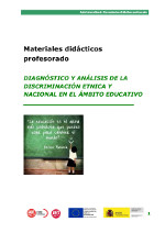 Diagnóstico y análisis de la discriminación étcnica y nacional en el ámbito educativo