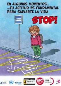 cartel transporte escolar