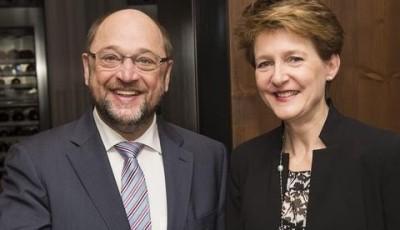 Políticos en Davos