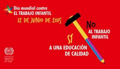 Cartel del Día contra el Trabajo Infantil