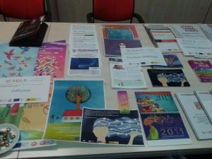 Imagen de los materiales de trabajo de los talleres