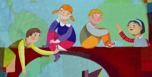 Dibujo grupo de niños