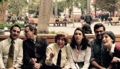 foto de grupo de los actores que representan la obra