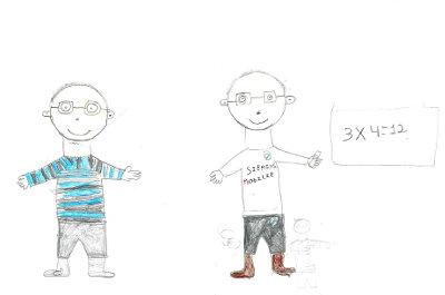 Dibujo de dos niños