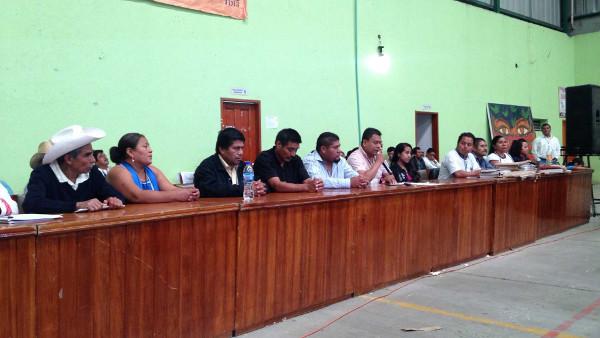 Foto del Congreso de los Pueblos de Oaxaca