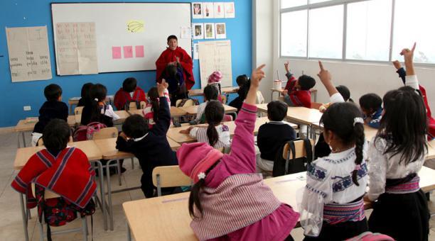 Foto de una clase en Ecuador