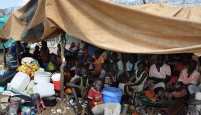 Imagen de un campo de refugiados en Sudán