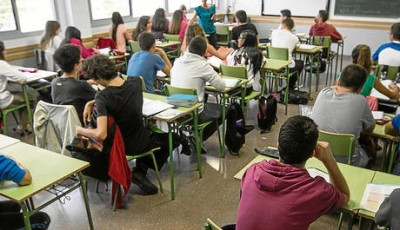 Foto de alumnos de una escuela