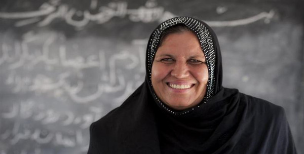 imagen de la profesora premiada