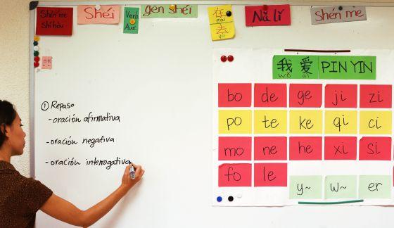 Imagen de una enseñante de idioma