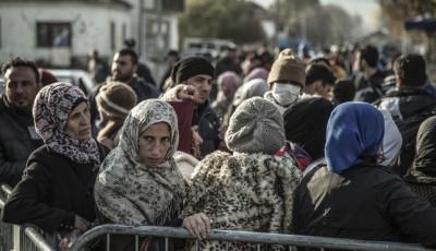 Imagen de un grupo de refugiados en Presevo