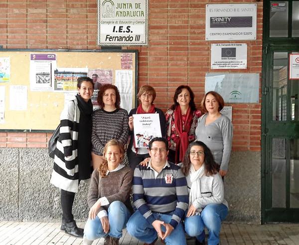 Imagen de los docentes premiados
