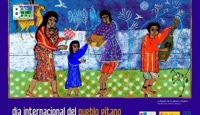 Cartel del día de la Comunidad Gitana, el 8 de abril
