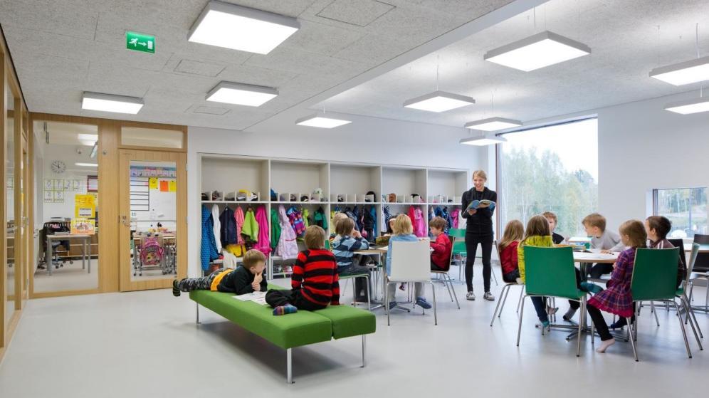 Imagen de una escuela finlandesa