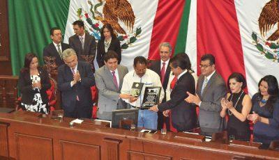 Imagen de la entrega del premio