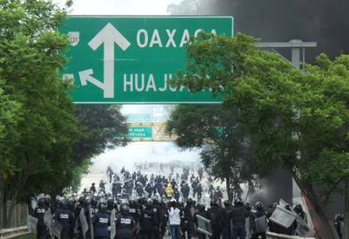Imagen de una manifestación en Oaxaca