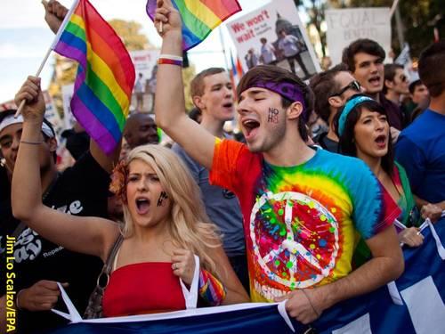 Imagen de una manifestación pro  LGTBI