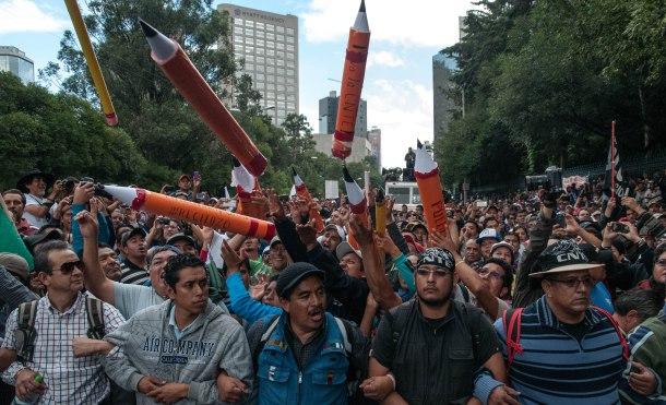 Imagen de una concentración en Mexico