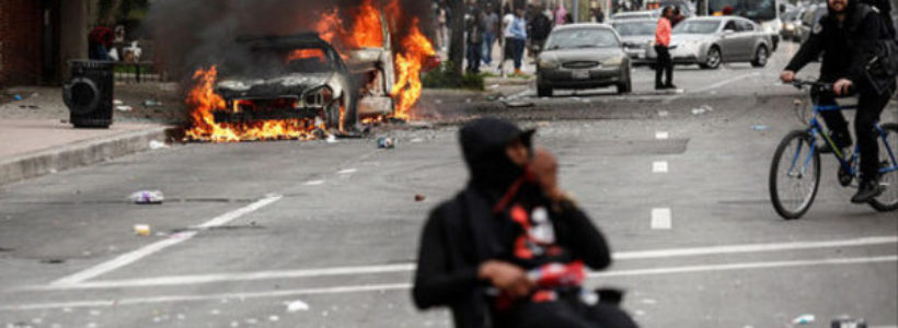 Imagen de revueltas raciales en Baltimore