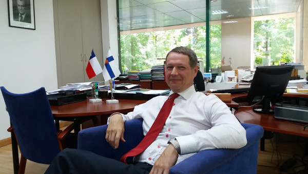 Imagen del embajador de Finlandia en Chile