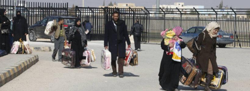 Imagen de algunas personas refugiadas en Jordania