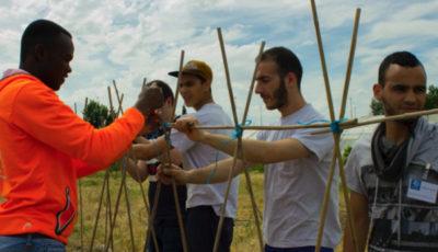 Imagen de varios alumnos trabajando en el campo