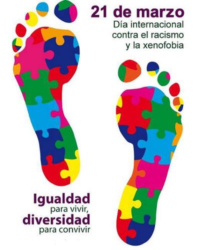 Cartel del Día de la Eliminación de la Discriminación Racial
