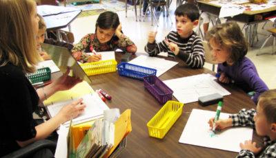 grupo de alumnos en clase