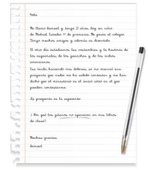 Imagen de la carta que Samuel llevará al Ministerio