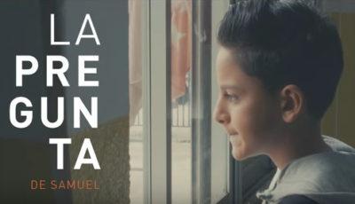 Fotograma del vídeo de la campaña en el que aparece Samuel