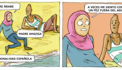 una viñeta del cómic