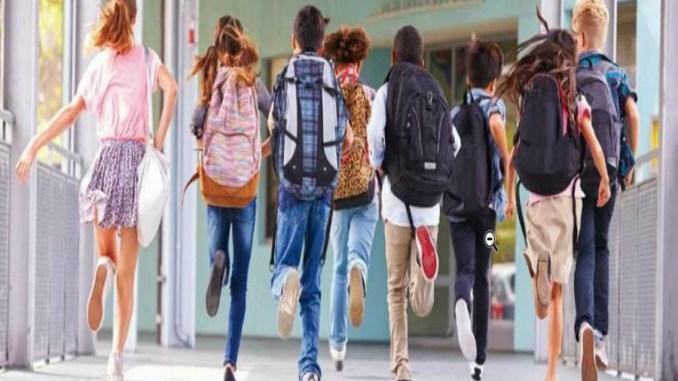 imagen de un grupo de chicos corriendo