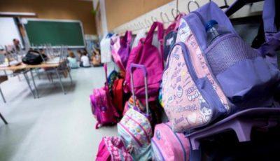 Imagen de varias mochilas escolares
