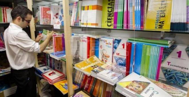 imagen de la sección de libros de texto de una librería