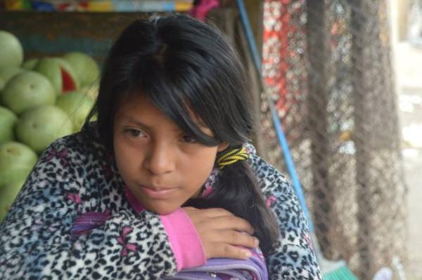 imagen de una niña de Guatemala