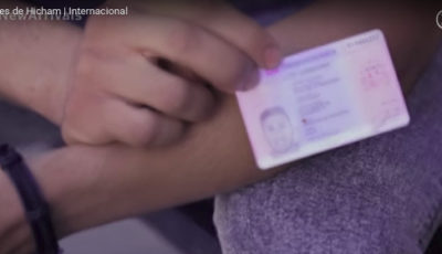 El documento de identidad ded Hicham