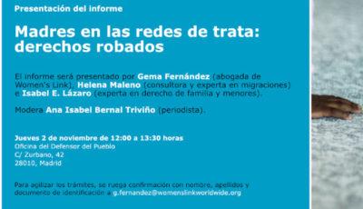 cartel de la presentación del informe
