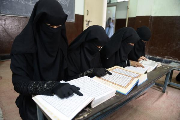 niñas indias musulmanas