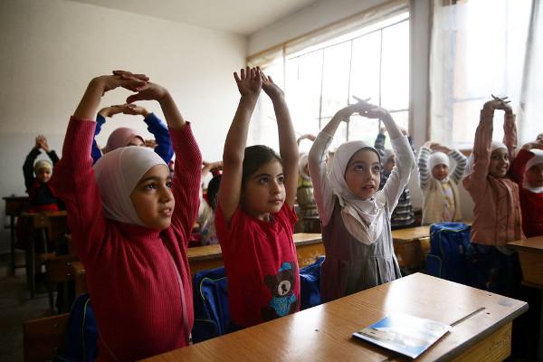 Niñas de Damasco, en Siria