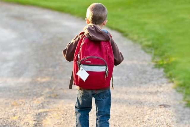 imagen de un niño con una mochila