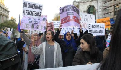 Imagen de una manifestación contra la islamofobia