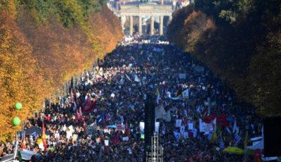Imagen de la multitudinaria manifestación de Berlín
