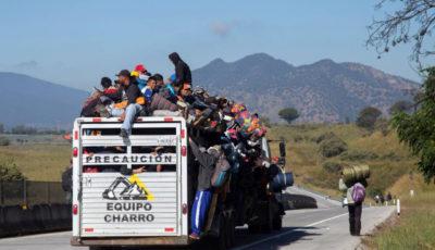 Caravana de migrantes en Jalisco